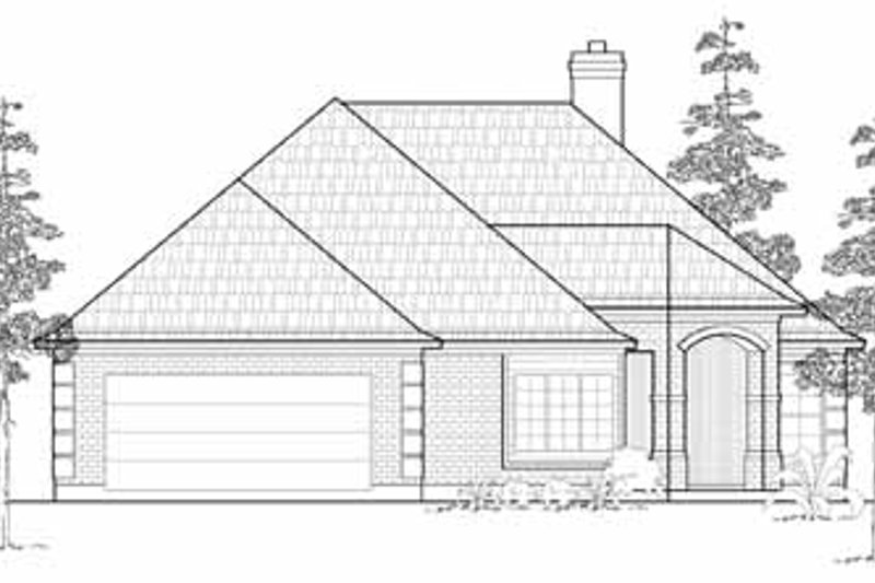 Traditional Exterior - Front Elevation Plan #61-202 - Houseplans.com