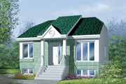 Traditional Style House Plan - 2 Beds 1 Baths 884 Sq/Ft Plan #25-194 Exterior - Front Elevation