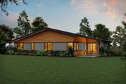 Contemporary Style House Plan - 4 Beds 2.5 Baths 2707 Sq/Ft Plan #48-979 Exterior - Rear Elevation