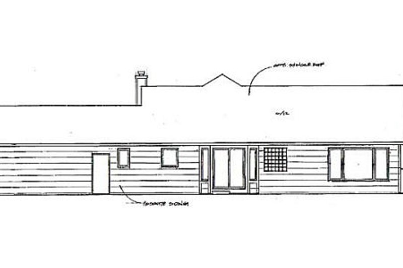 Ranch Exterior - Rear Elevation Plan #58-167 - Houseplans.com