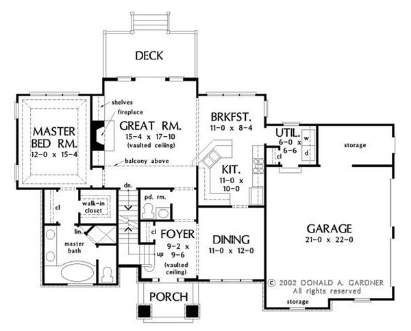 Optional Basement Stair Placement
