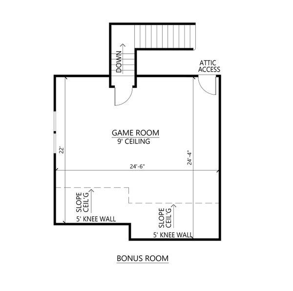 Farmhouse Floor Plan - Upper Floor Plan #1074-50