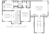 Country Style House Plan - 4 Beds 2.5 Baths 2389 Sq/Ft Plan #11-223 Floor Plan - Upper Floor Plan