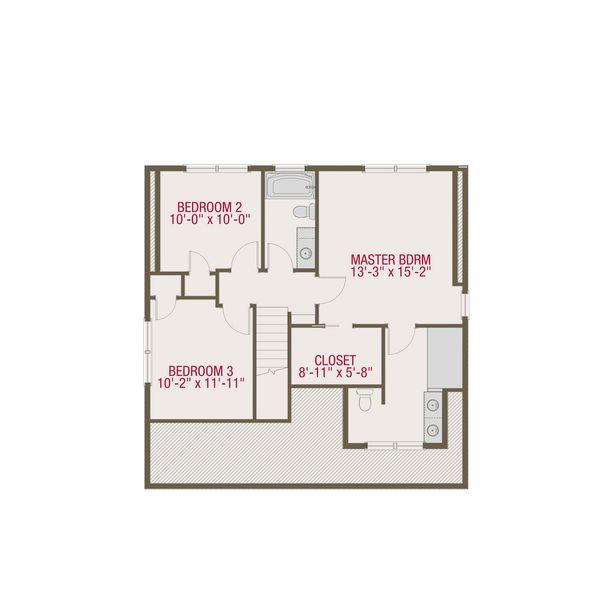 Craftsman Floor Plan - Upper Floor Plan Plan #461-50