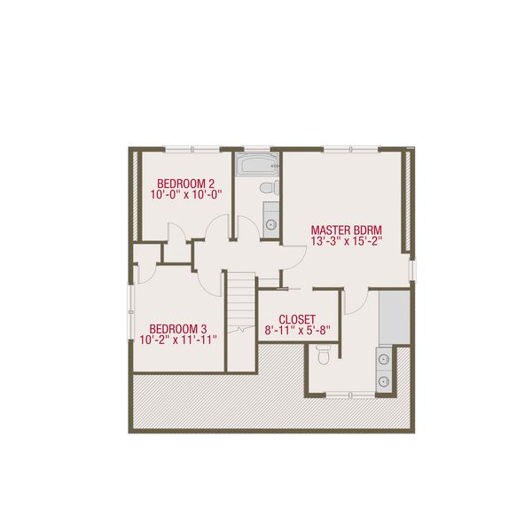 Craftsman Floor Plan - Upper Floor Plan Plan #461-50