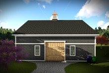 House Plan Design - European Exterior - Rear Elevation Plan #70-1451