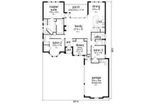 European Floor Plan - Main Floor Plan Plan #84-581