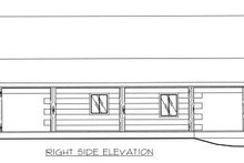 Log Exterior - Other Elevation Plan #117-505