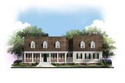 Traditional Style House Plan - 3 Beds 2.5 Baths 1820 Sq/Ft Plan #119-355 Exterior - Front Elevation