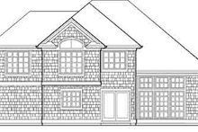 Dream House Plan - Traditional Exterior - Rear Elevation Plan #48-202