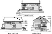 Craftsman Style House Plan - 5 Beds 2.5 Baths 2756 Sq/Ft Plan #100-408 Exterior - Rear Elevation
