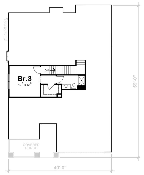 Cottage Floor Plan - Upper Floor Plan Plan #20-2387