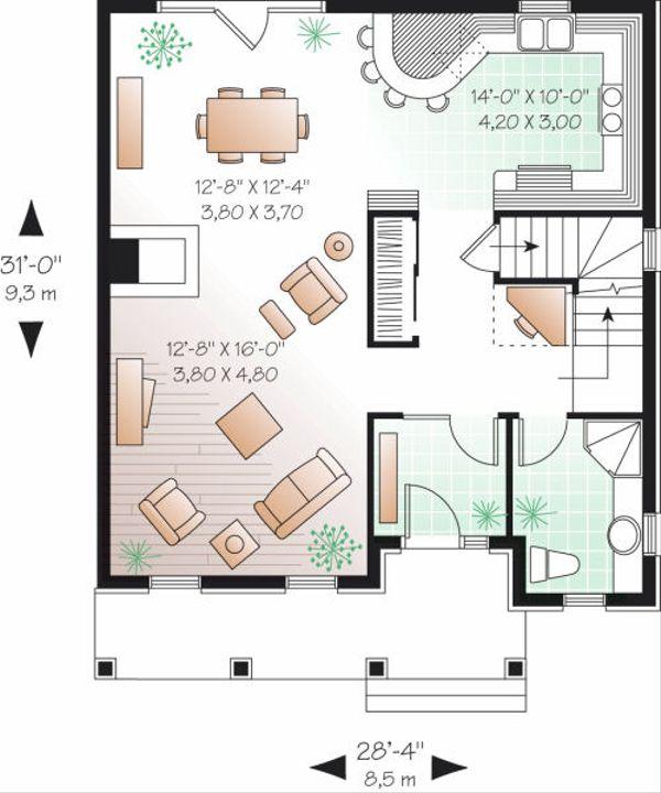 Traditional Floor Plan - Main Floor Plan Plan #23-734