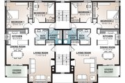 European Style House Plan - 2 Beds 1 Baths 7624 Sq/Ft Plan #23-2050 Floor Plan - Upper Floor