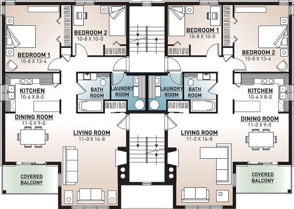 European Floor Plan - Upper Floor Plan Plan #23-2050