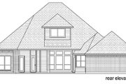 Traditional Style House Plan - 4 Beds 3 Baths 2705 Sq/Ft Plan #84-557 Exterior - Rear Elevation