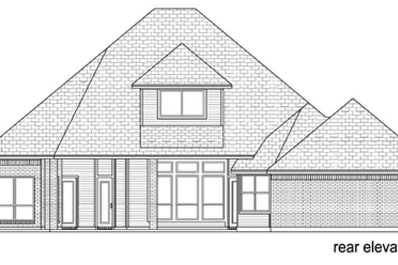 Traditional Exterior - Rear Elevation Plan #84-557 - Houseplans.com