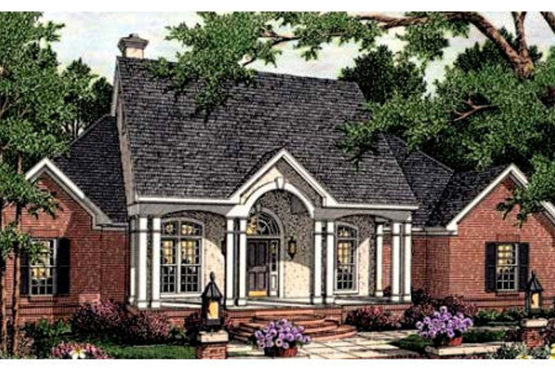 Southern Exterior - Front Elevation Plan #406-112