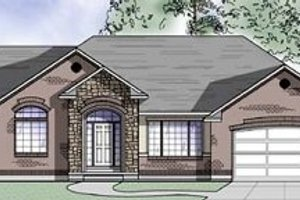 Ranch Exterior - Front Elevation Plan #5-120