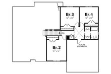 Craftsman Floor Plan - Upper Floor Plan Plan #20-2146