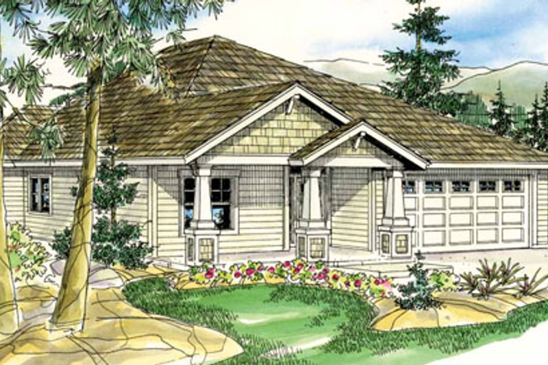 Craftsman Exterior - Front Elevation Plan #124-780 - Houseplans.com
