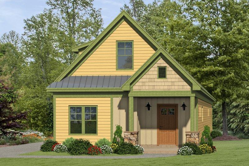 House Plan Design - Cabin Exterior - Front Elevation Plan #932-17