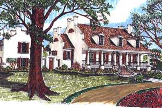 Mediterranean Exterior - Front Elevation Plan #76-111