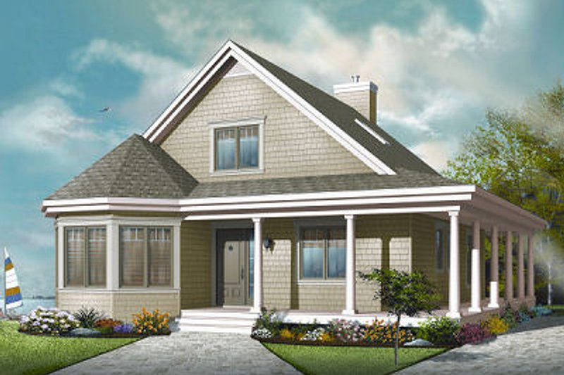 Dream House Plan - Farmhouse Exterior - Front Elevation Plan #23-823