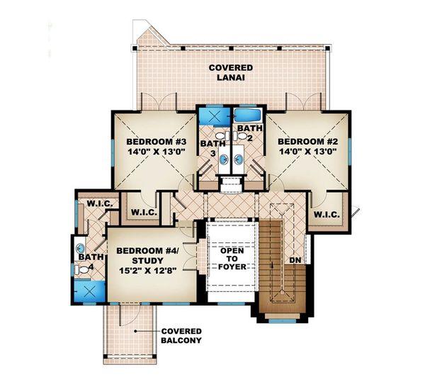 Beach Floor Plan - Upper Floor Plan Plan #27-484