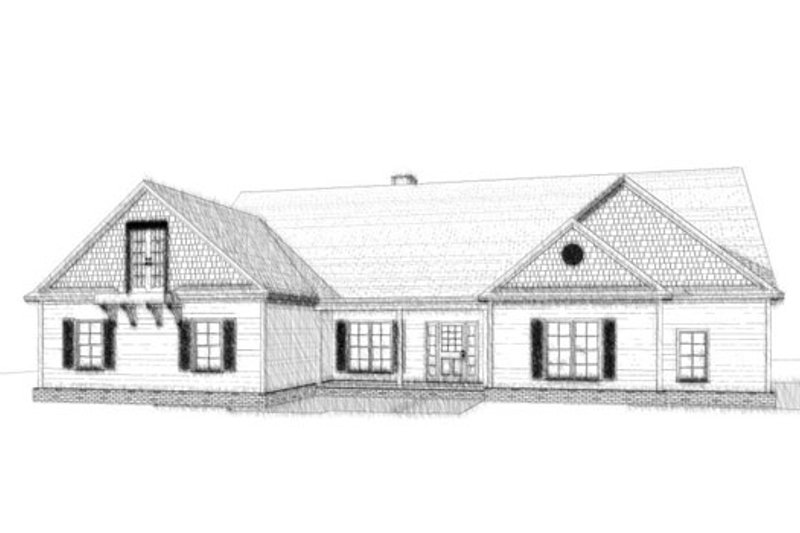 Traditional Style House Plan - 5 Beds 3 Baths 3109 Sq/Ft Plan #63-323 Exterior - Front Elevation