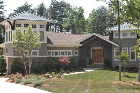 Craftsman Exterior - Front Elevation Plan #413-861