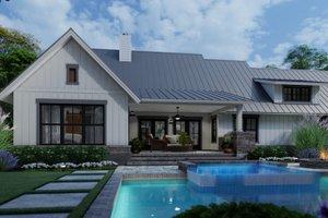 Farmhouse Exterior - Rear Elevation Plan #120-270