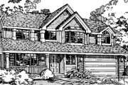 Country Style House Plan - 4 Beds 2.5 Baths 2196 Sq/Ft Plan #320-363 Exterior - Front Elevation