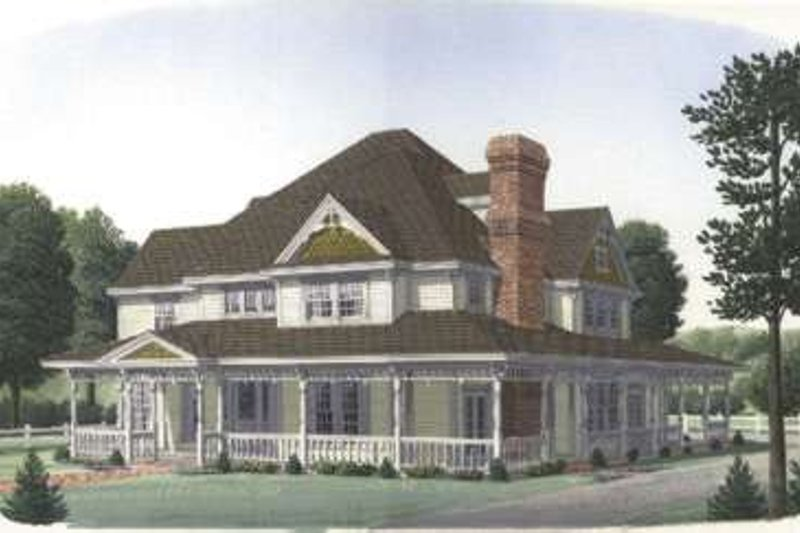 Victorian Exterior - Front Elevation Plan #410-230