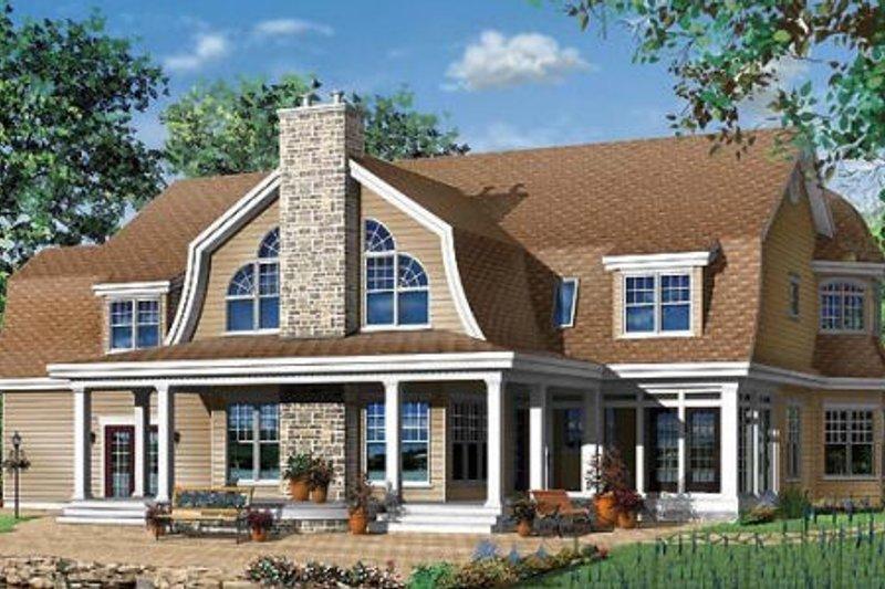 Traditional Exterior - Rear Elevation Plan #23-584 - Houseplans.com