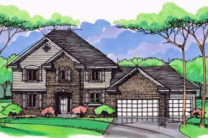 Traditional Exterior - Front Elevation Plan #51-389
