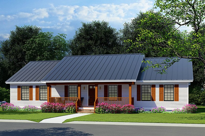 Dream House Plan - Farmhouse Exterior - Front Elevation Plan #923-223