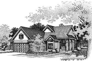 Traditional Exterior - Front Elevation Plan #50-182