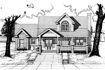 Traditional Exterior - Front Elevation Plan #20-409