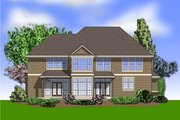 Craftsman Style House Plan - 5 Beds 3.5 Baths 4026 Sq/Ft Plan #48-612 Exterior - Rear Elevation