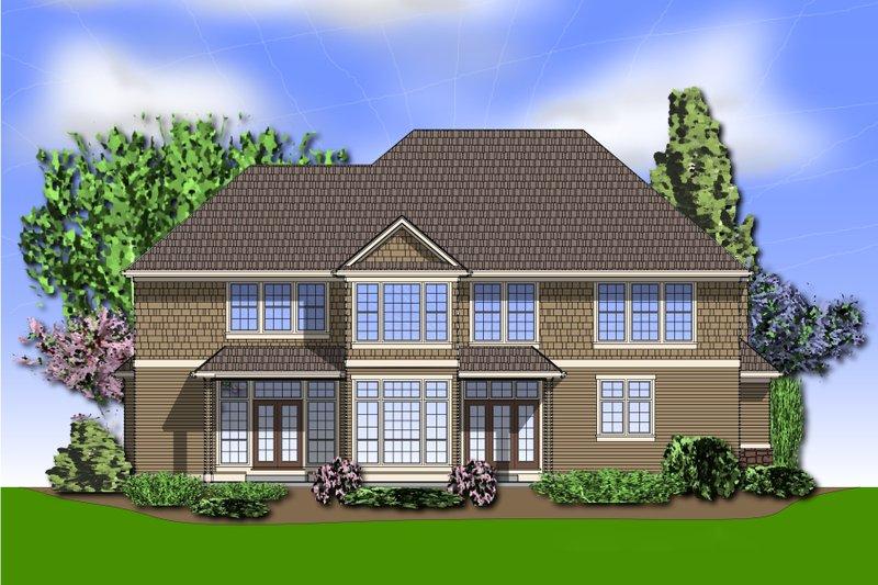 Craftsman Exterior - Rear Elevation Plan #48-612 - Houseplans.com