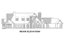 Craftsman Exterior - Rear Elevation Plan #17-2444