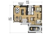 Contemporary Style House Plan - 2 Beds 1 Baths 1226 Sq/Ft Plan #25-4662 Floor Plan - Main Floor Plan