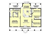 Traditional Style House Plan - 3 Beds 2 Baths 1640 Sq/Ft Plan #44-240 Floor Plan - Main Floor Plan