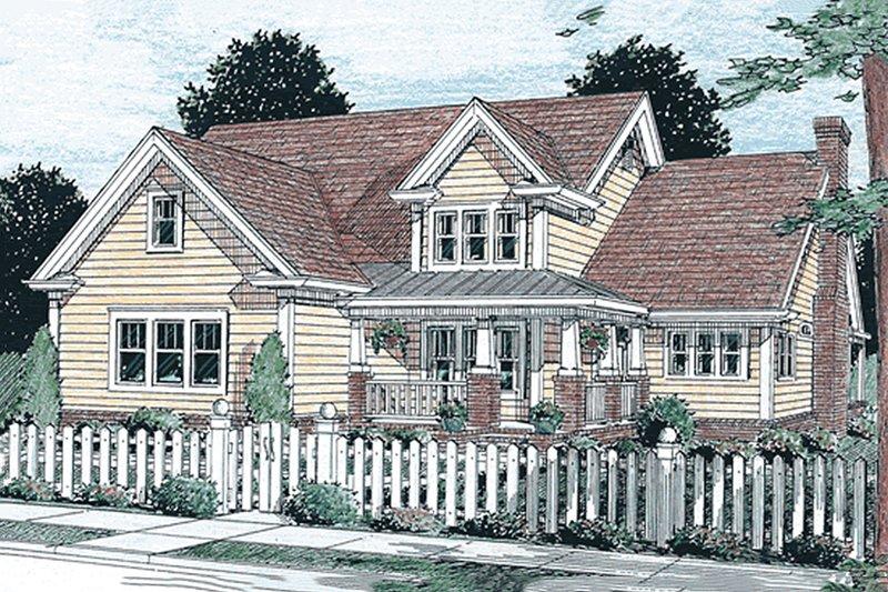 Architectural House Design - Craftsman Exterior - Front Elevation Plan #20-355