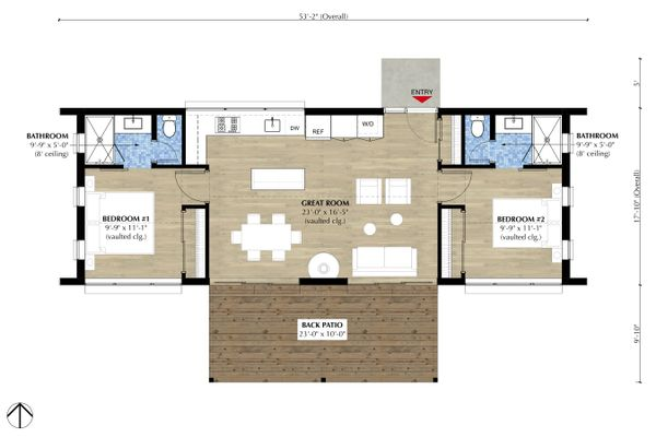 Modern Floor Plan - Main Floor Plan Plan #933-11