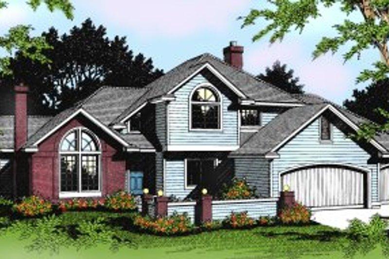 Colonial Exterior - Front Elevation Plan #88-201 - Houseplans.com