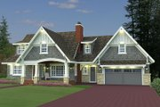 Craftsman Style House Plan - 5 Beds 3.5 Baths 3521 Sq/Ft Plan #51-541 Exterior - Front Elevation