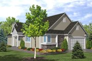 Traditional Style House Plan - 3 Beds 2 Baths 1871 Sq/Ft Plan #50-101 Exterior - Front Elevation