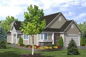 Traditional Exterior - Front Elevation Plan #50-101